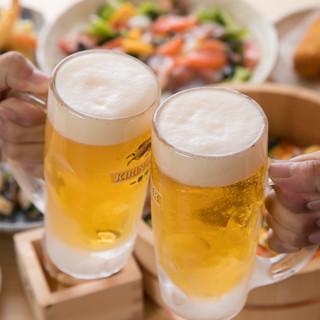 【目玉企画◎立飲み限定】ビール、ハイボールを199円でご提供