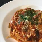 カフェレストラン ルシェッロ - 茄子のトマトソースパスタ