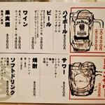 餃子ノ酒場 すえひろ - お品書 ドリンク
