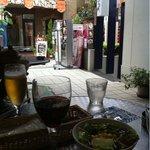 Cafe de 武 - お店のテラスからの眺め。