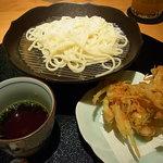 銀座みやま - 五島うどんザル盛りと天ぷら