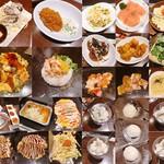 お好み焼本舗 - ※お好み焼き、麺類、焼肉はシェア(ほとんど私)    牡蠣、蟹、サラダ、1品料理、デザートは1人分