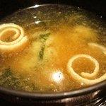 板前創作料理 山勝 - 山椒が香る味噌汁
