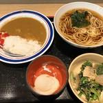 名代 富士そば - 朝カレーセット 390円