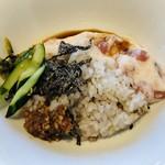 ホテル ローカス - 料理写真:宮古マグロの山掛け丼 塩昆布他トピング各種