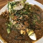 アジアンキッチン オオツカレー - ポークキーマの薬膳カレー & ガッツリシナモンのチキンキーマの2種あいがけ