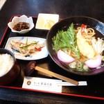 おふくろ - 天ぷらうどんセット 1000円