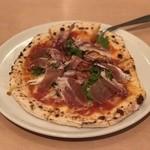 100622920 - かほくイタリア野菜と生ハムのサラダピッツァ ¥1280