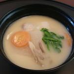 市川 ひろの江 - 料理写真:先付 白味噌仕立のお雑煮
