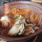 いかだ荘 山上 - 牡蠣の土手鍋