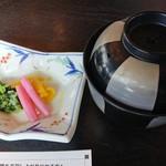 いかだ荘 山上 - 牡蠣の味噌汁