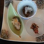 いかだ荘 山上 - 牡蠣の前菜