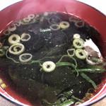 食道楽 - スープ付き♪