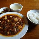 蓮根荘 - ランチの麻婆豆腐セットです。