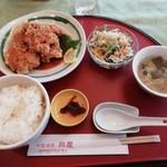 chuugokushuboukoukei - 若鶏の唐揚げ薬味ソースがけ650円 安い!