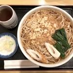 藤の家 - たぬきそば(600円)+中盛(50円)