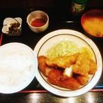 三河屋 - ミックスフライ定食