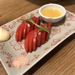 二尺七輪 鳥玖 - 冷やしアメーラトマト(350円)