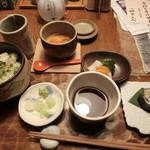 九つ井 - 【炊き込みご飯と手打ちそばセット】
