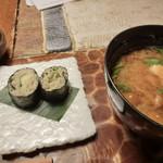九つ井 - 【炊き込みご飯と手打ちそばセット】一そば寿司とみそ汁