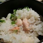 九つ井 - 【炊き込みご飯と手打ちそばセット】一炊き込みご飯(たらこ)