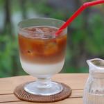 カフェ わかば - ドリンク写真:アイスカフェオレ(ミルクは美山牛乳使用)