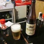 菊すい - キリン一番搾り 飲食店では珍しい大瓶です…^^;