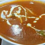 100650586 - Asian Dining & Bar New Maharaja @ときわ台 辛口でお願いした日替りランチのおくらチキンカレーはバターチキンカレーのような滑らかな舌触り
