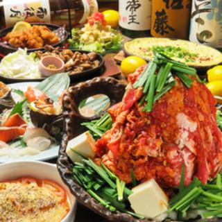 おすすめの鍋料理はコースでもご提供。各種宴会にもピッタリ