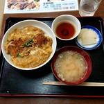満腹食堂 - カツ丼(みそ汁付)