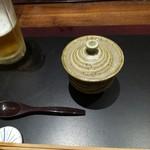 一汁五菜 - 湯葉が入っている茶碗蒸し