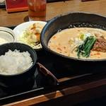 ラーメン 申家 - 極担々麺ランチセット