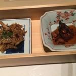100664763 - かしわとごぼうの金平と蛸と大豆の柔らか煮