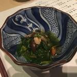 100664777 - 京壬生菜と海老のお浸し