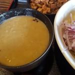 全力 - 濃厚つけ麺 つけ汁アップ
