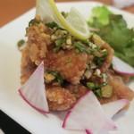点点 - ・「定食B 若鳥のさっぱりネギソース 肉シューマイ2ヶ付き(¥1079)」のアップ。