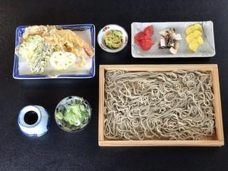 文月 - 天ぷら板そば ¥1400
