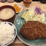 100689435 - 特選リブロースかつ定食(2,800円)