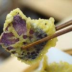 万よし - 紅芋の天ぷら
