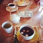 茶のこ - おしること玄米茶のセット