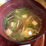 和風レストラン 松竹 - 味噌汁