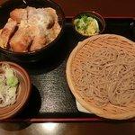 蕎麦由々 金王庵 - ヒレカツ丼(ミニせいろ付き)