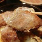 蕎麦由々 金王庵 - ヒレカツのアップ