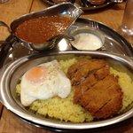 インド定食 ターリー屋 - キーマでカツカレー!