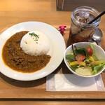 ブック&コーヒー - 自家製キーマカレーセット(ドリンク付) ¥780
