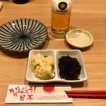 貫田川 - お通し500円はポテサラともずく酢
