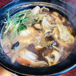 牛鍋うどん 楽 - 能登かき味噌鍋うどん 1500円 (季節限定)