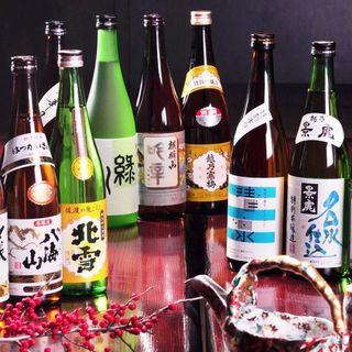 越後の地酒をはじめ、日本酒が豊富!