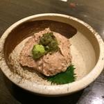 九州うまか - H.31.1.12.夜 熊本県阿蘇産自然薯刻みわさび和え 580円税別