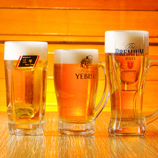 ビール党も歓喜!アサヒ・エビス・プレモル、3種の生が飲み放題